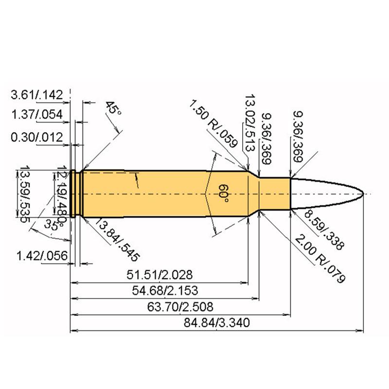 .338 Blaser Mag Cartridge Dimensions