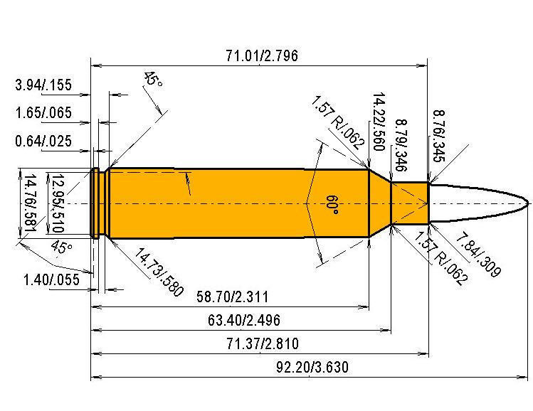 7.82 Warbird (Lazzeroni) Cartridge Dimensions