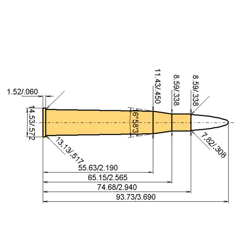 .30 Super Fl. H&H Cartridge Dimensions