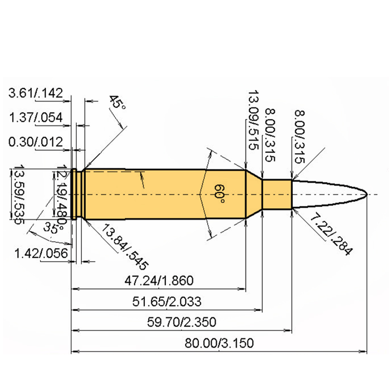 7 mm Blaser Mag Cartridge Dimensions
