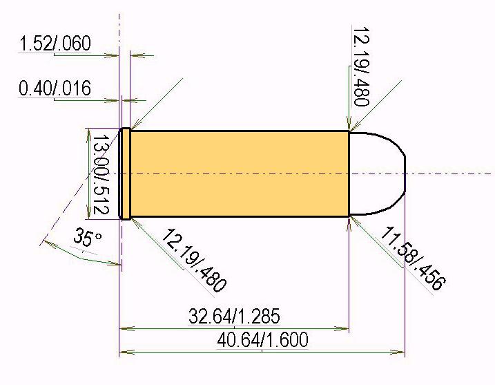 .45 Colt Cartridge Dimensions