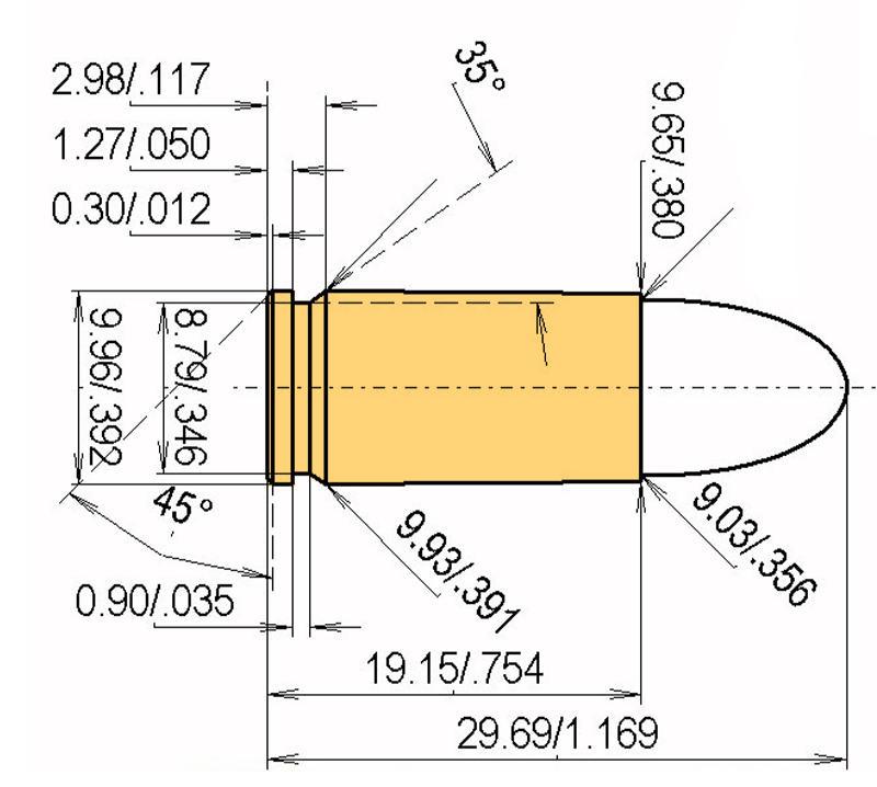 9 mm Luger (9 mm Parabellum, 9 x 19 mm)