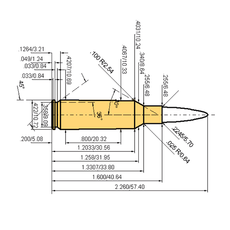.224 Valkyrie Cartridge Dimensions