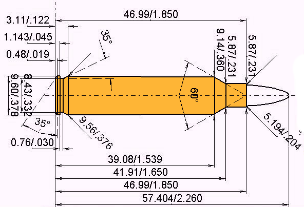 .204 Ruger Cartridge Dimensions