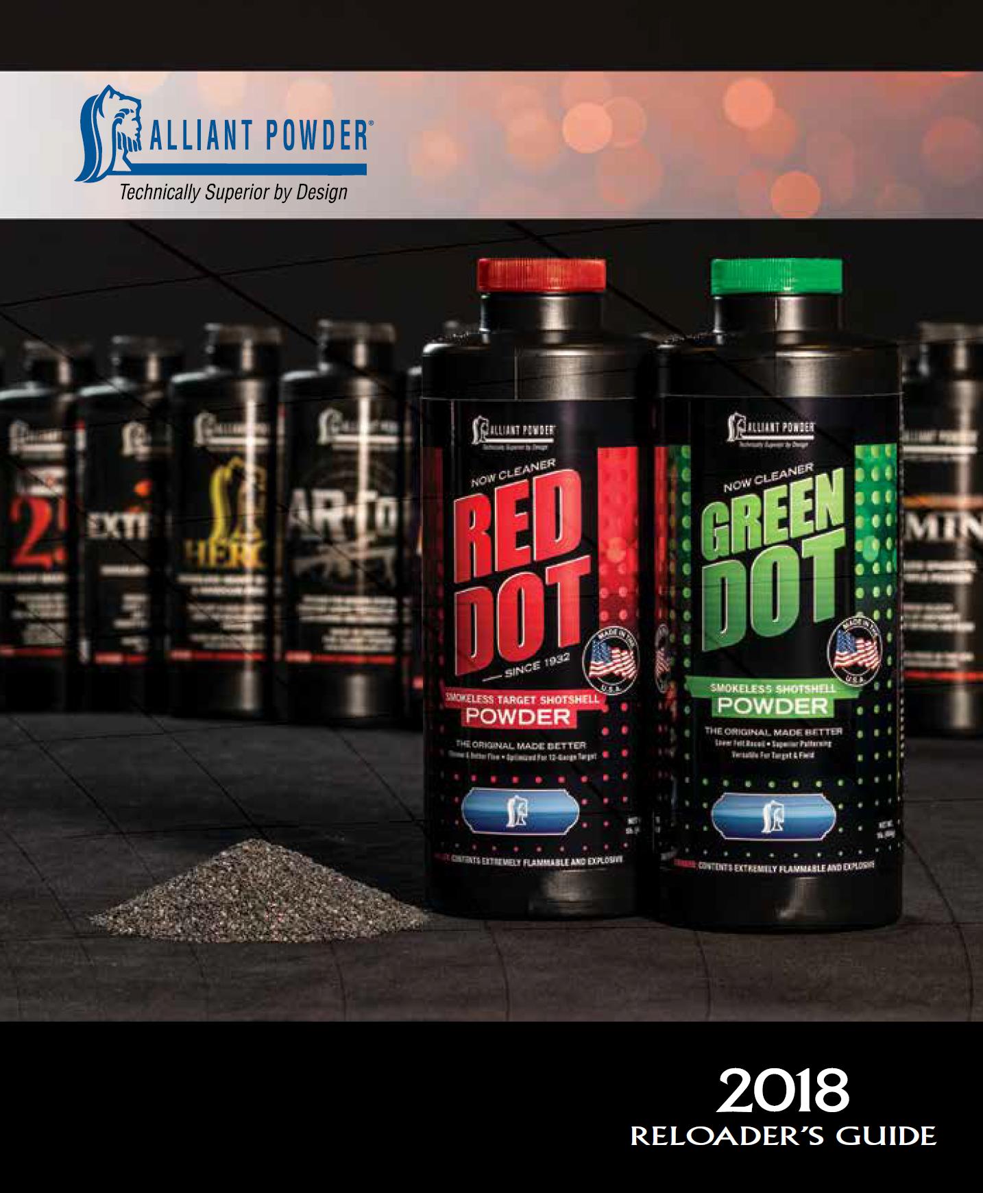 Alliant Powder Reloading Guide 2018
