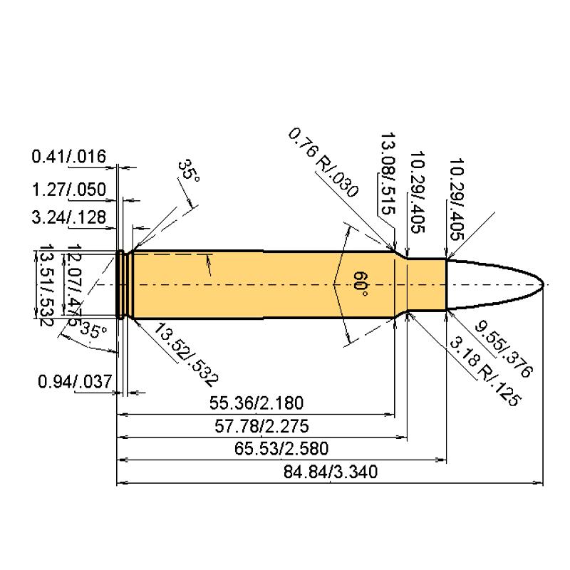 .375 Ruger Cartridge Dimensions