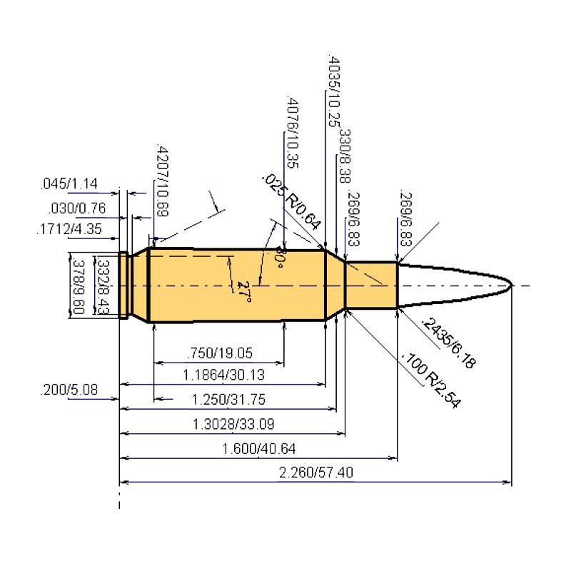 .24 Nosler Cartridge Dimensions