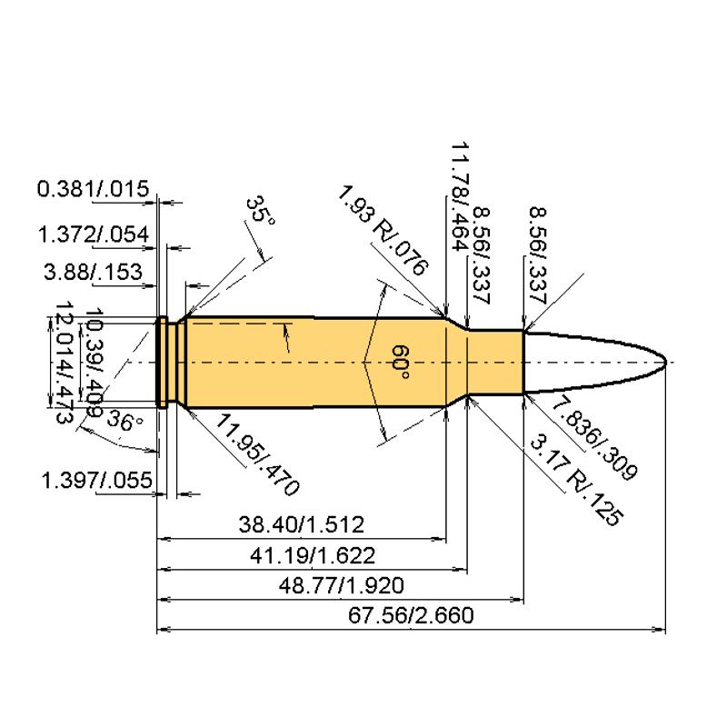 .30 TC Cartridge Dimensions