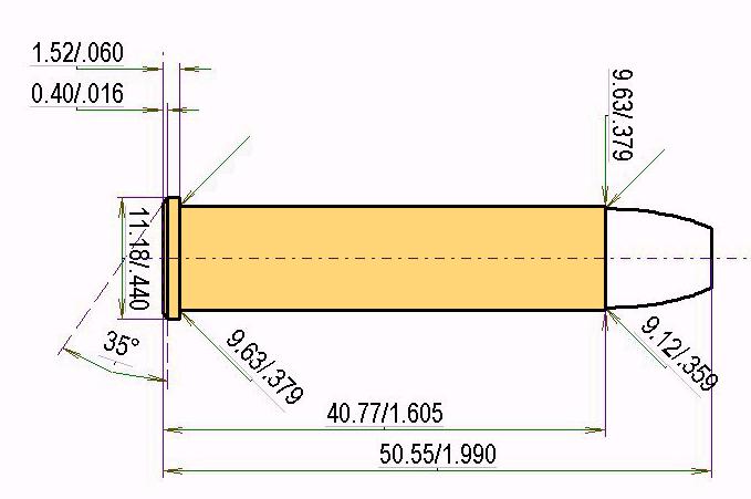 .357 Maximum Cartridge Dimensions