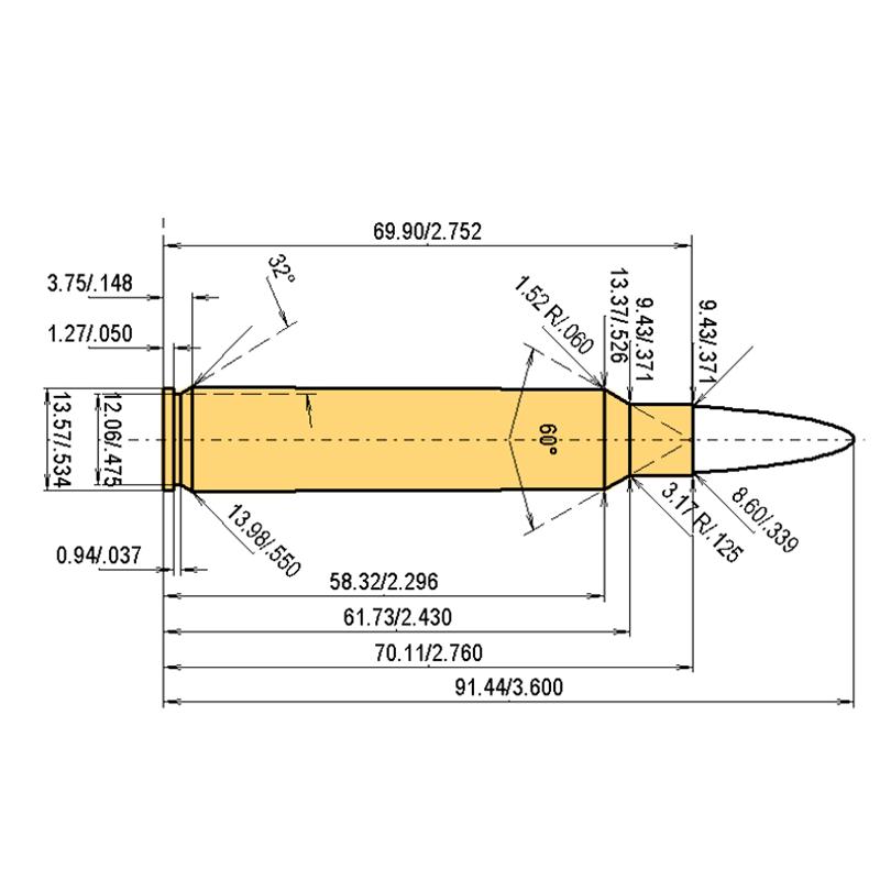 .338 Rem. Ultra Mag Cartridge Dimensions